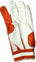 batting glove red