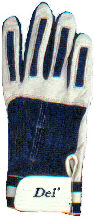 batting glove blue